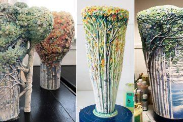 woodland ceramic vases bowls