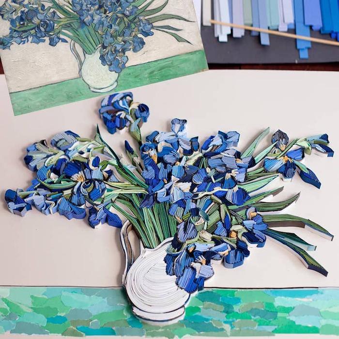 yulia brodskaya paper quilling irises