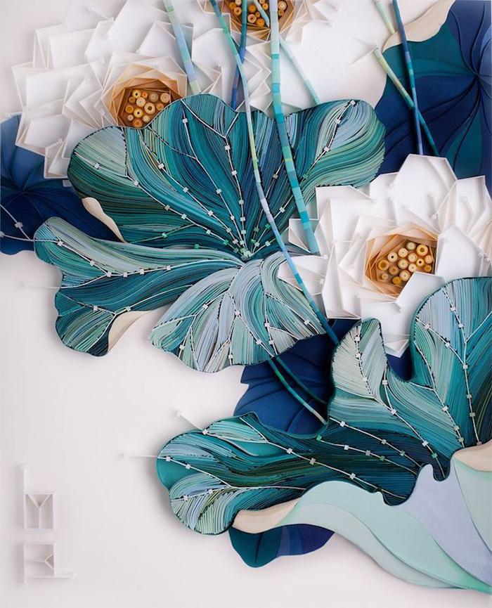 yulia brodskaya paper quilling pond leaves