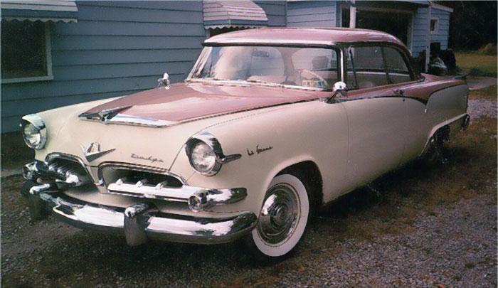 1955 dodge la femme pink car