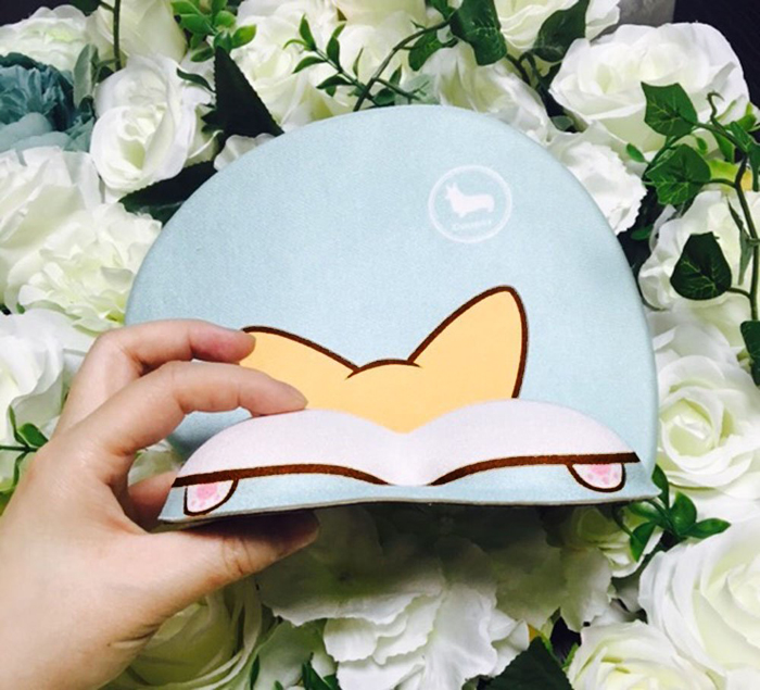 3d corgi butt mouse pad side