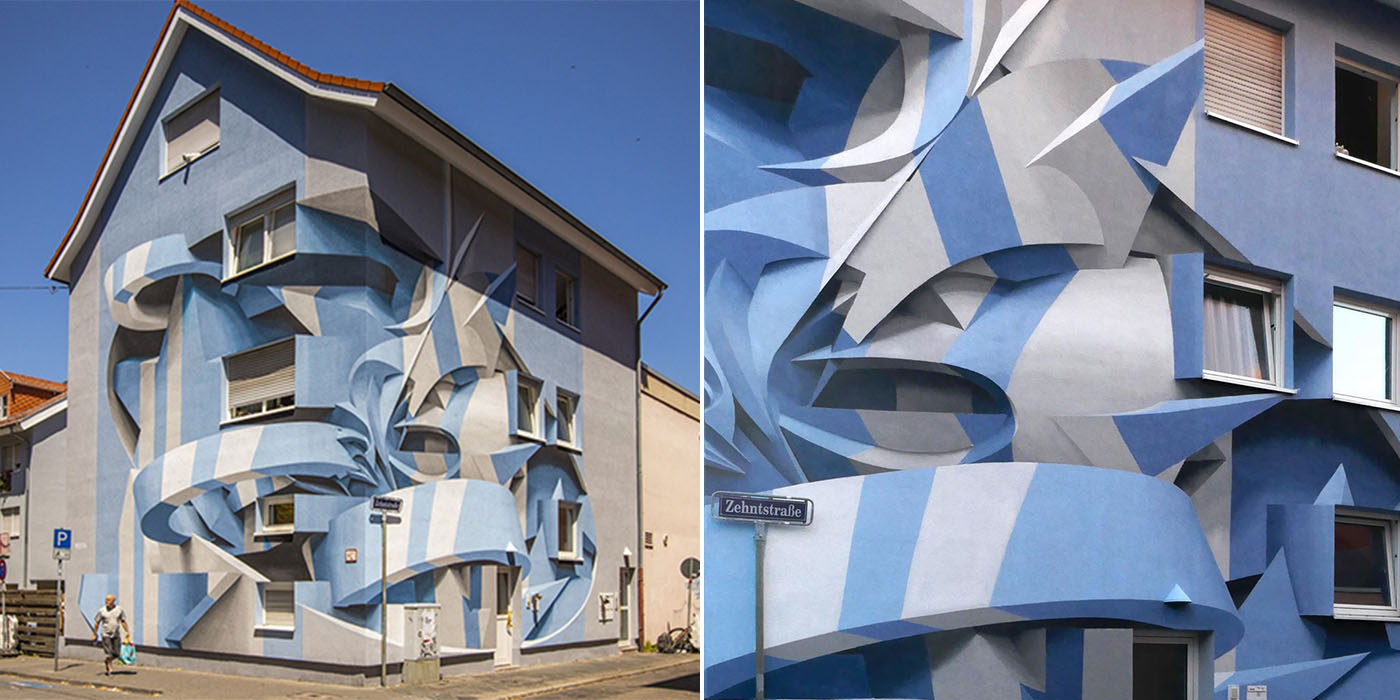 Street Artist Manuel Di Rita Stuns Passersby With His 3d Illusion Abstract Murals