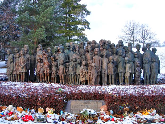 82 children sculptures in lidice village czechoslovakia czech republic
