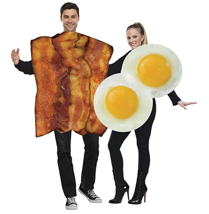 Eggs and bacon costumes