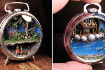 Miniature Worlds Inside Antique Pocket Watches