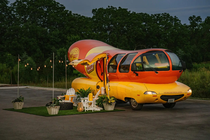 airbnb oscar mayer wienermobile outdoor picnic zone