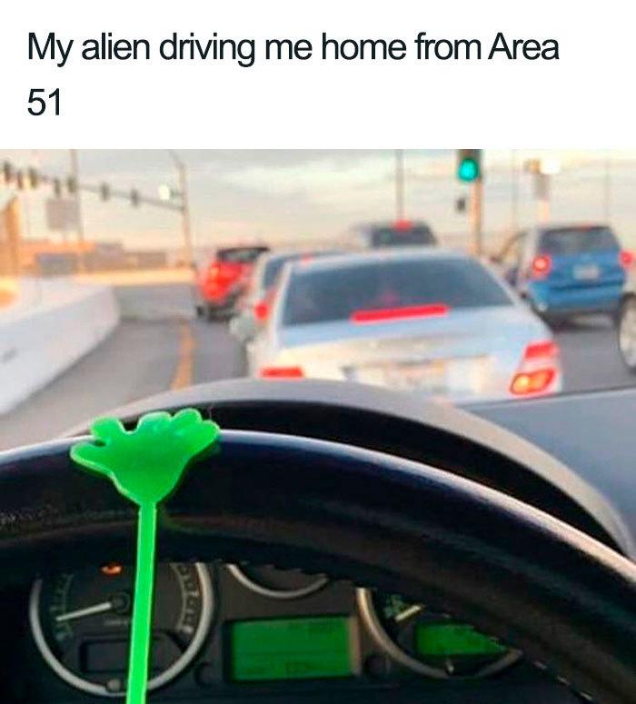 alien driving me home area 51 memes