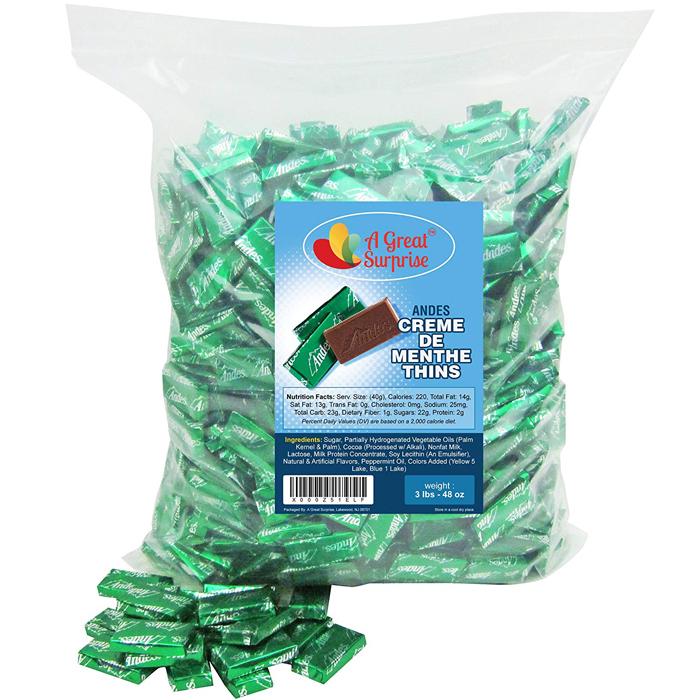 amazon 3-pound bag andes creme de menthe thins