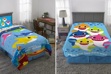 baby shark bedding
