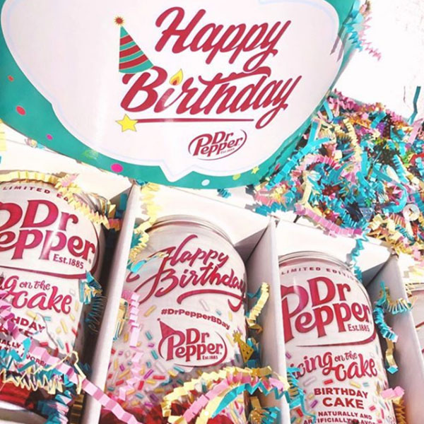 birthday cake flavor dr pepper