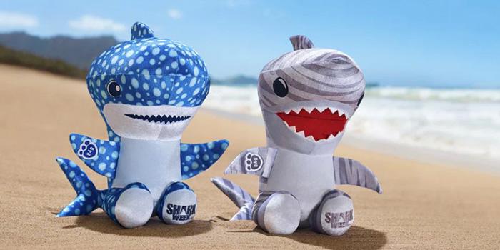 build-a-bear shark week collection cute plush sharks