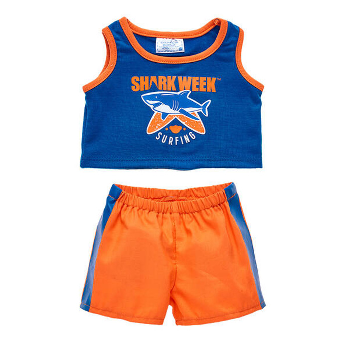 build-a-bear shark week collection outfit blue