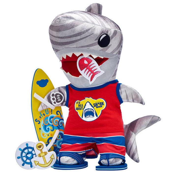 build-a-bear shark week collection tiger shark gift set