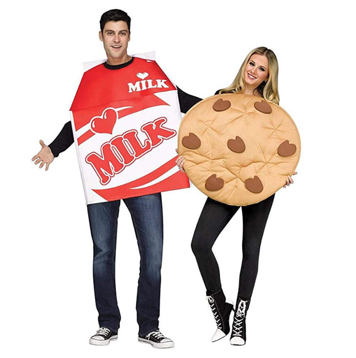 couples costumes milk and cookie