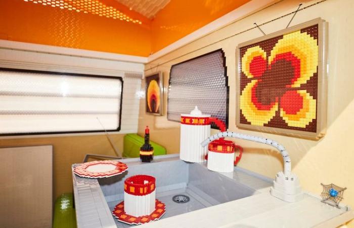 cozy interior full size LEGO Volkswagen Camper