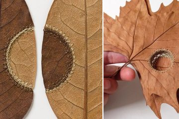 crochet dried leaves