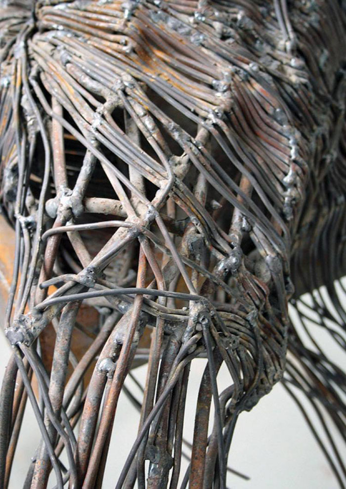 darius hulea metal wire sculptures closer look