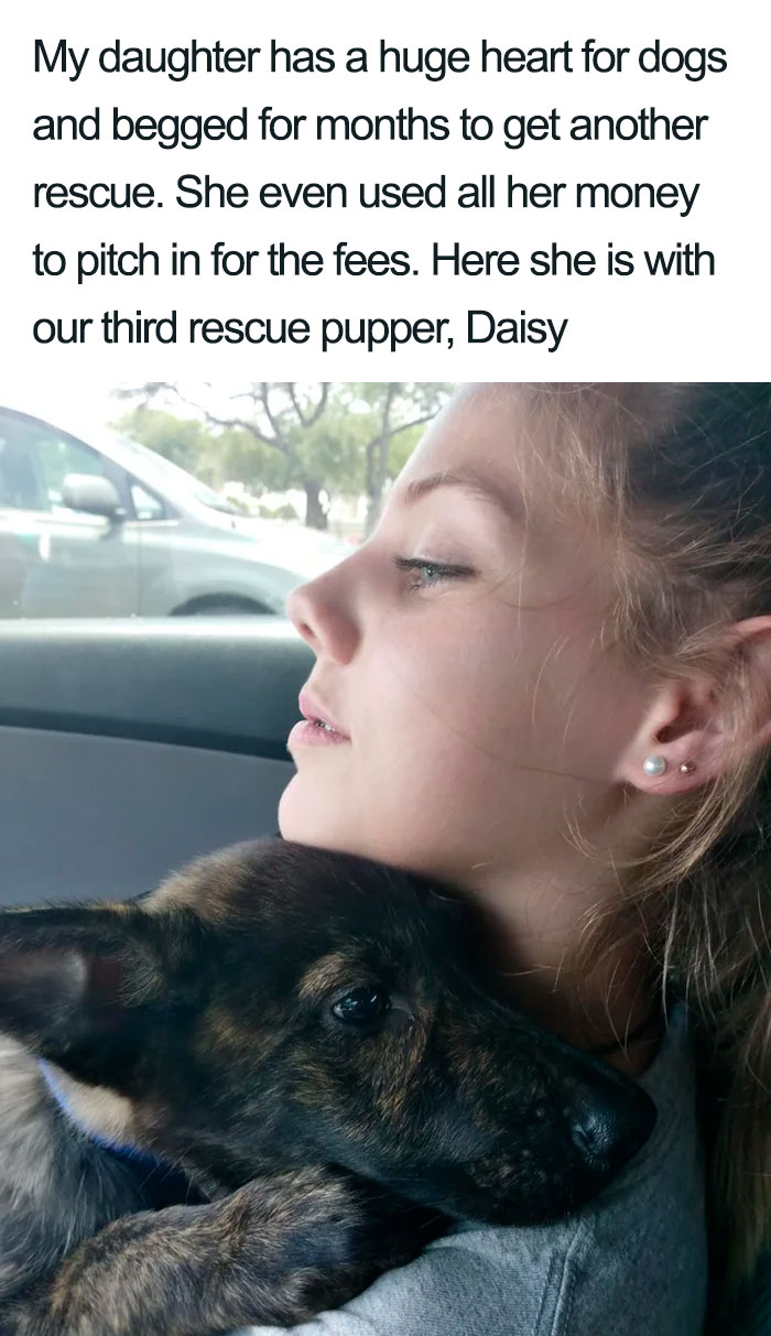 daughter third rescue puppy