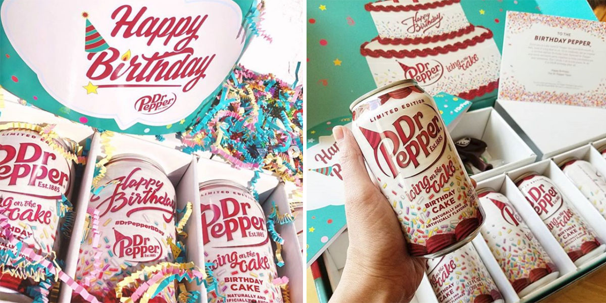 Incredible Dr Pepper Sends Out Birthday Cake Flavor Cans To Its Ambassadors Funny Birthday Cards Online Kookostrdamsfinfo