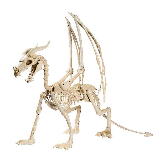 dragon skeleton plastic halloween decor