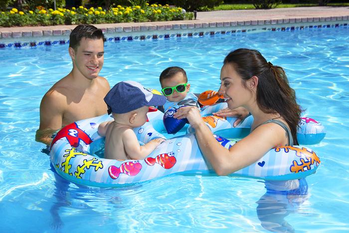 dual baby pool float rider poolmaster