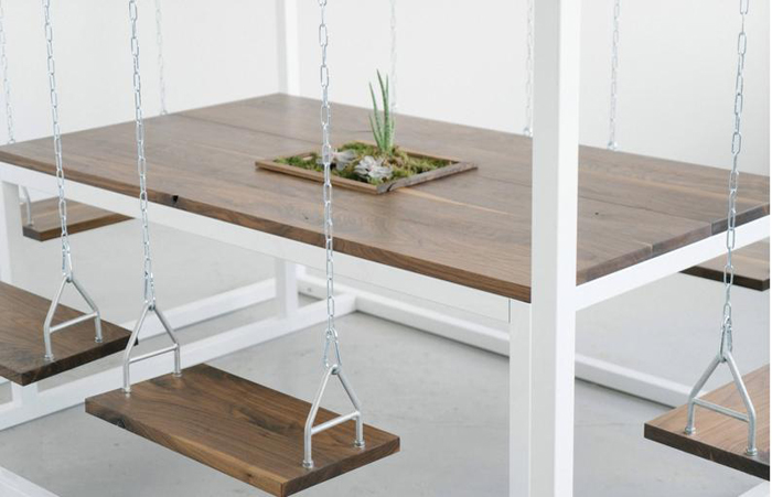 etsy 6-person swing table walnut wood material
