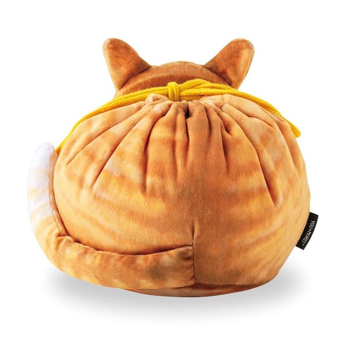 felissimo cat-shaped bags orange tabby back