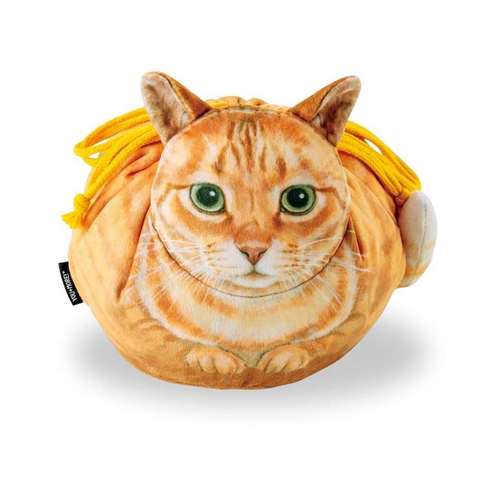 felissimo cat-shaped bags orange tabby design