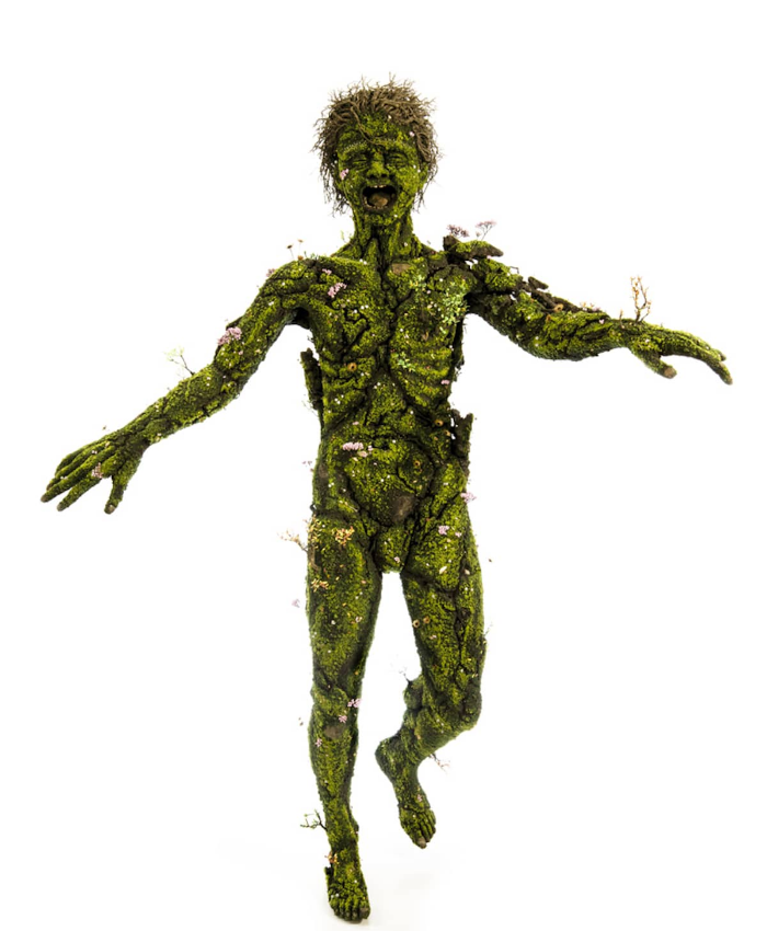 full body human emeric chantier plant sculptures