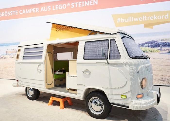full size LEGO Volkswagen Camper