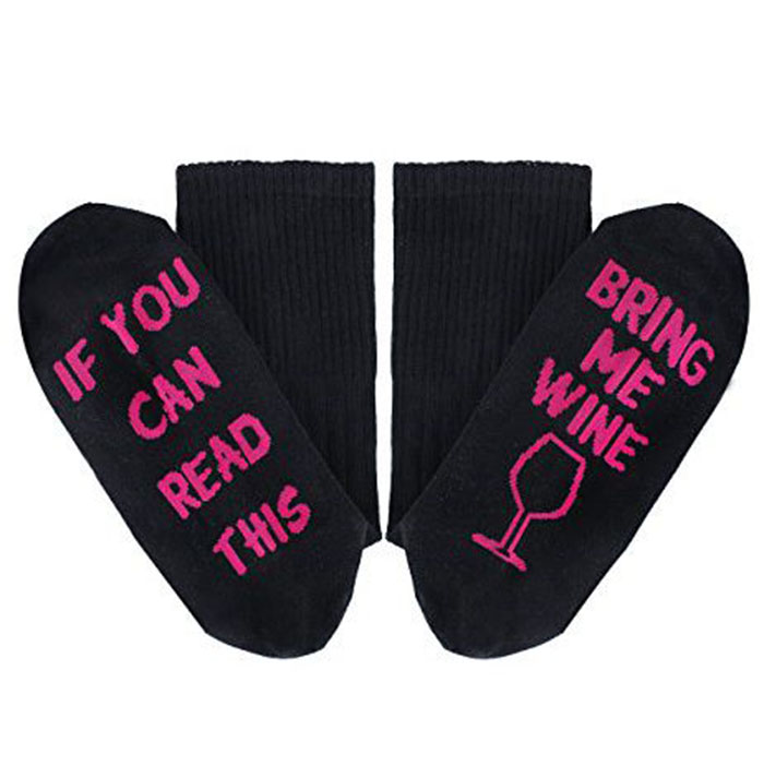 fun socks perfect wine gifts