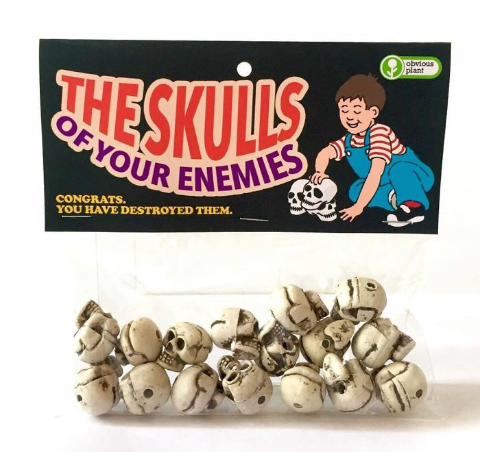 funny fake products obvious plant enemies skulls