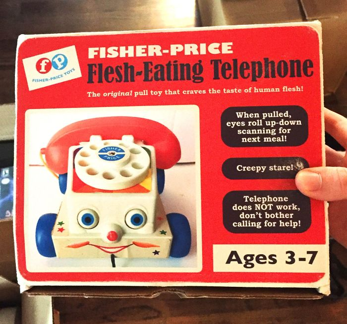funny fake products obvious plant flesh eating telephone