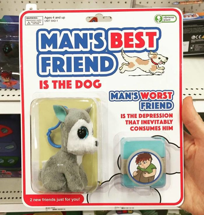 funny fake products obvious plant man best and worst friend