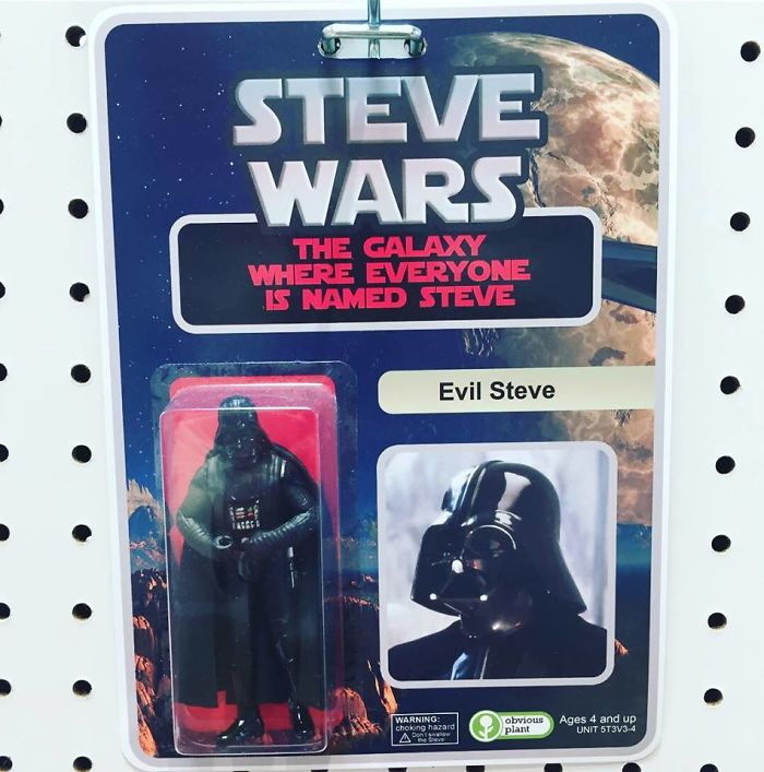 funny fake products obvious plant steve wars