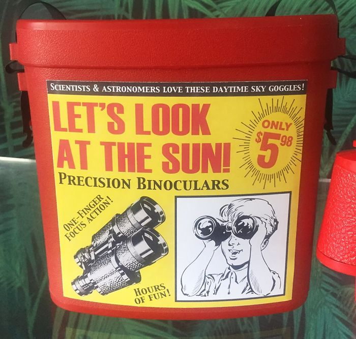 funny fake products obvious plant sun binoculars