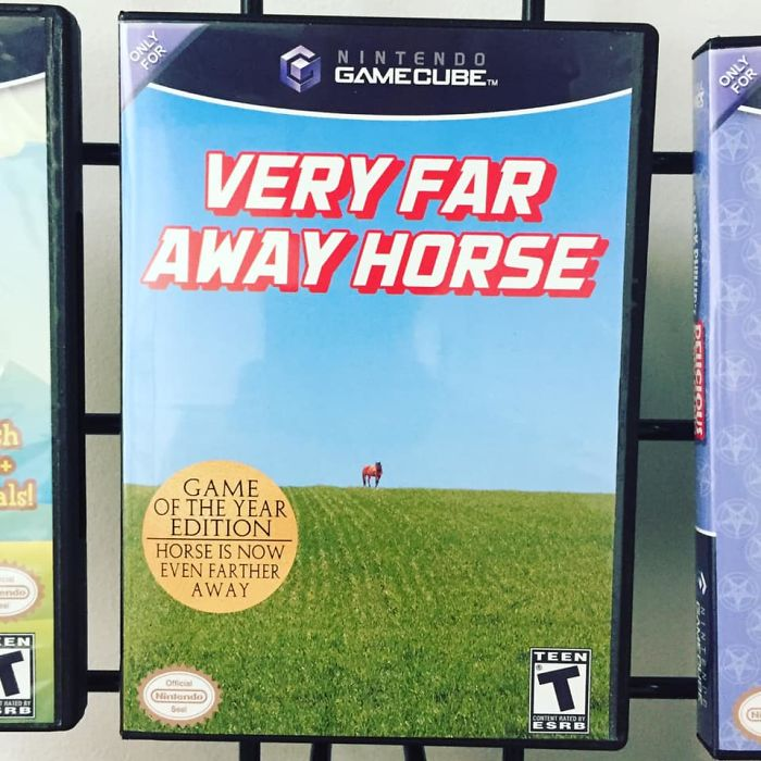 funny fake products obvious plant very far away horse