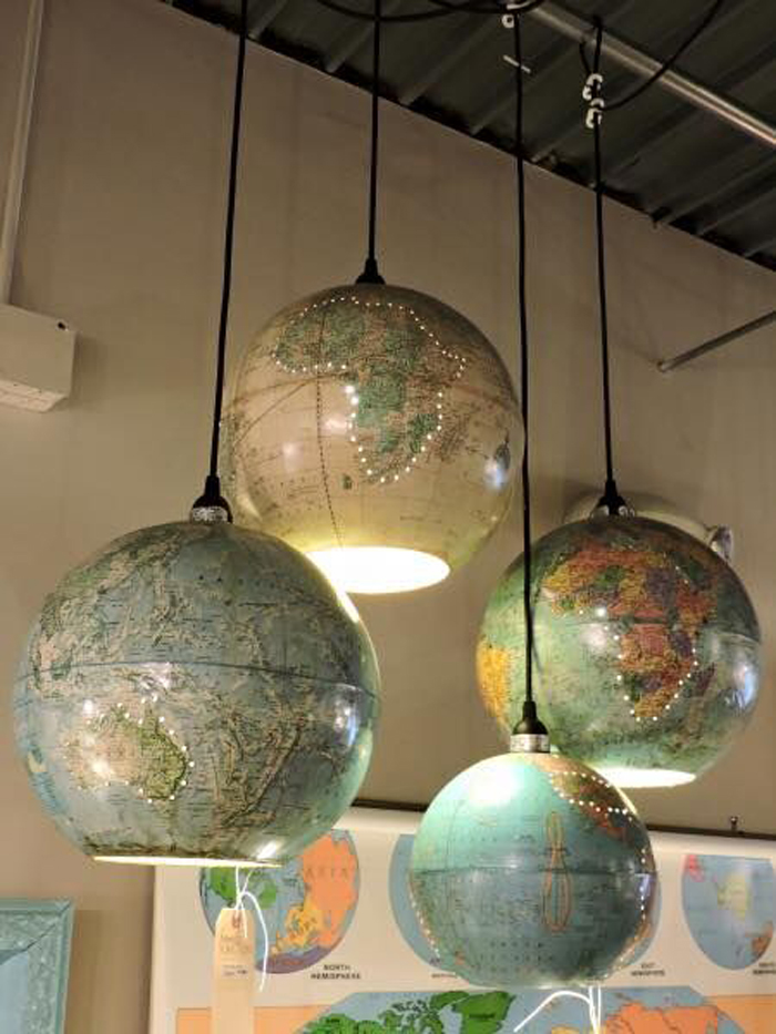 globe pendant light diy