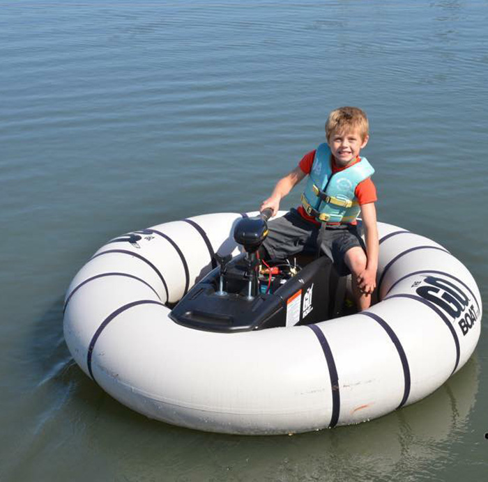 goboat bumper floats in water