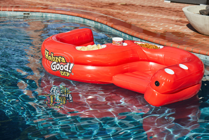 heluva good dip pool float