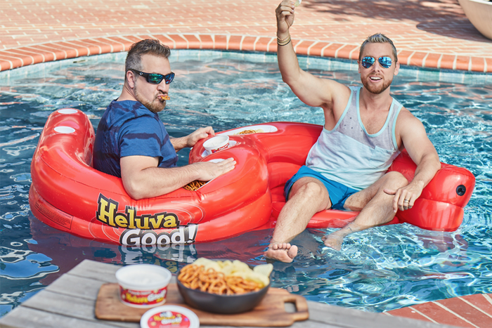 heluva good ss snacker pool float lance bass joey fatone