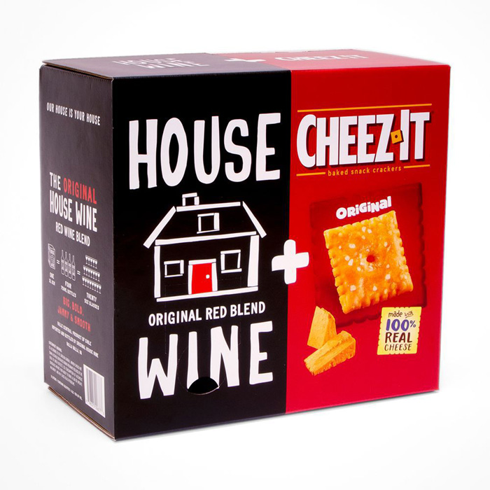 house wine and cheez-it combo box limited edition