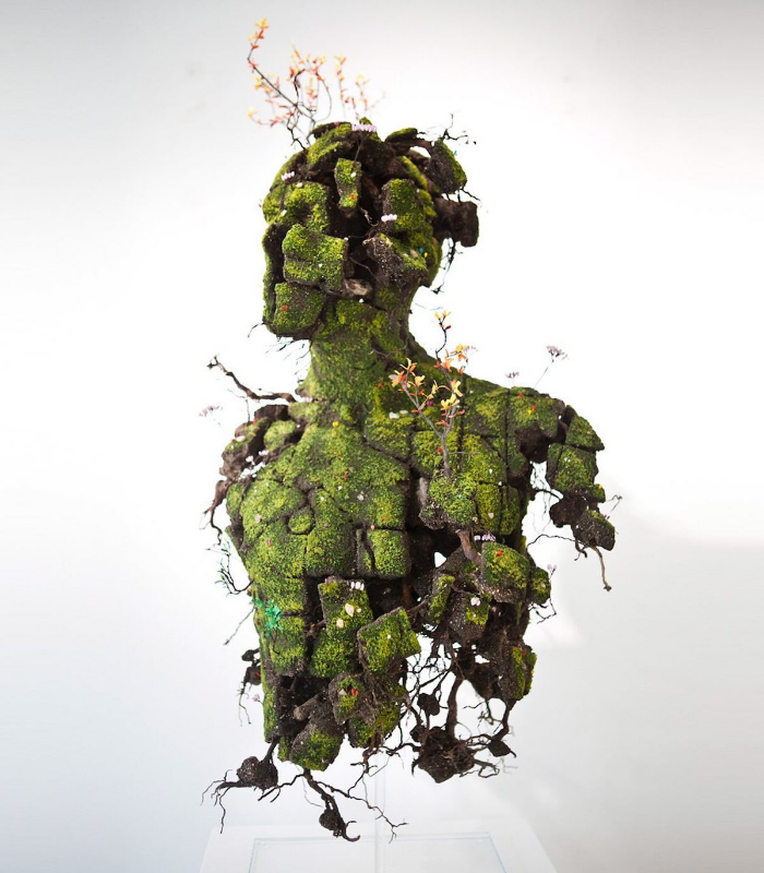 human side view emeric chantier plant sculptures