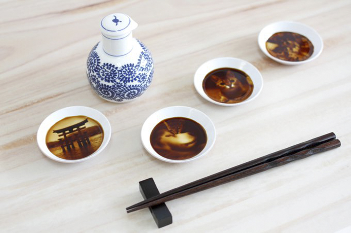 japanese soy sauce dish hidden paintings