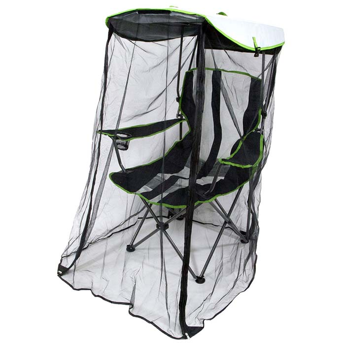 kelsyus foldable canopy chair with bug guard