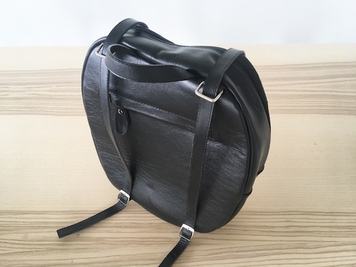 krukrustudio leather wings backpacks black back side