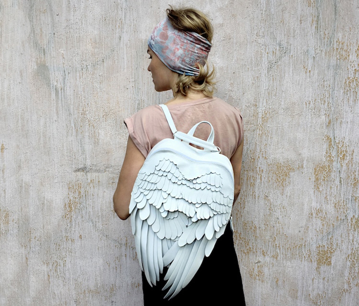 krukrustudio leather wings backpacks
