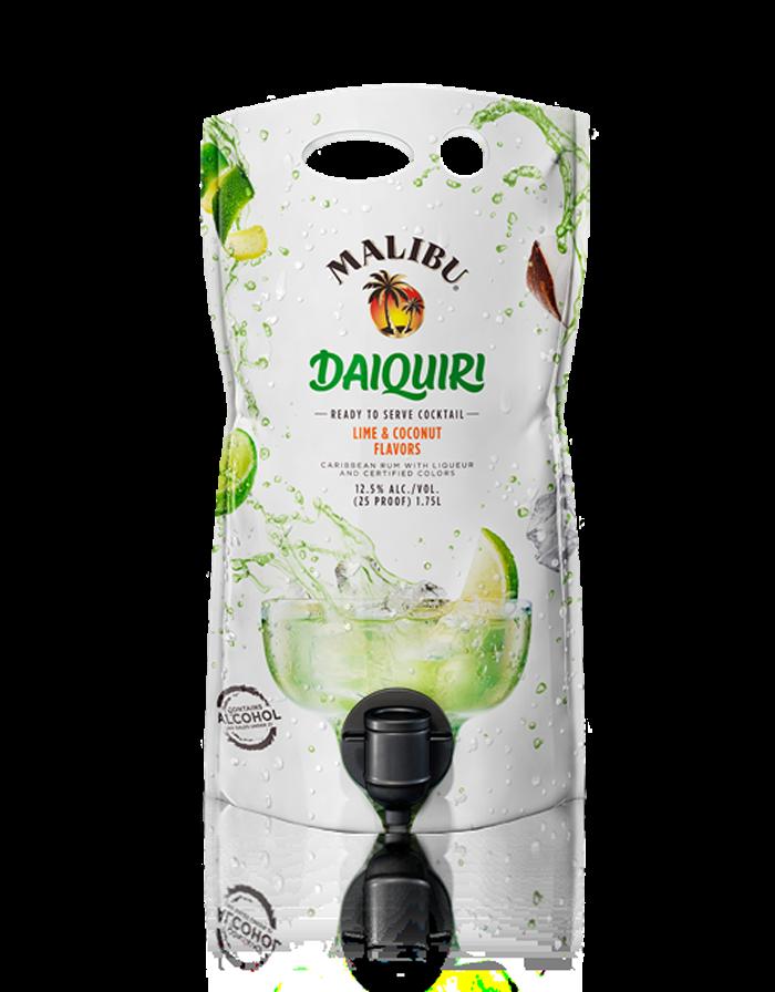 malibu flavored rum pouches daiquiri