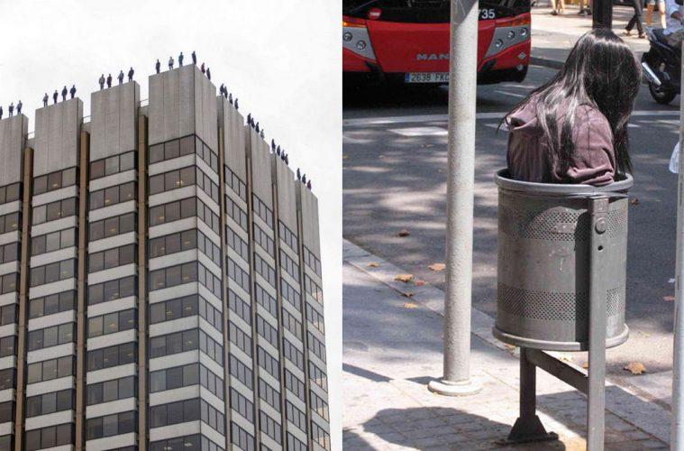 mannequins around city
