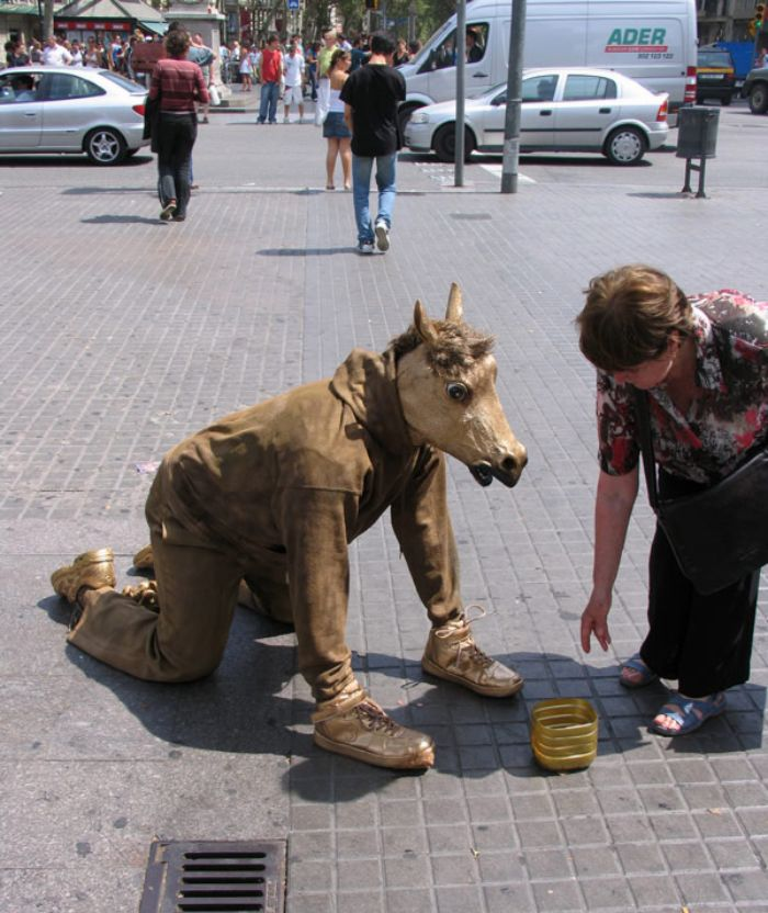 mark jenkins realistic mannequins half horse human barcelona spain